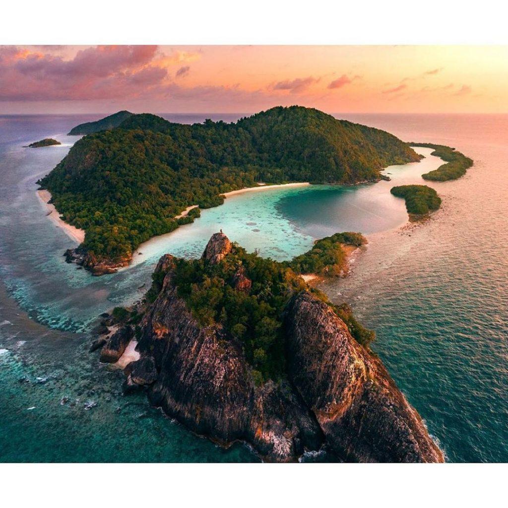Komodo island from above